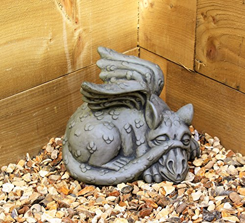 Dragon Garden Ornament-Gargoyle-Sculpture Stone Statue-Decorative Gift Welsh