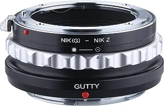 GUTTY Lens Mount Adapter for Nikon G/S/D Lens to Nikon Z6 Z7 Z-Mount Mirrorless Camera NIK(G)-NIKZ