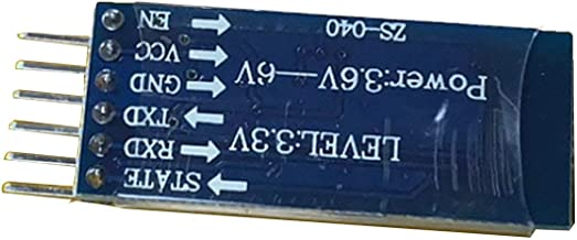 Lorenlli M/ódulo Transceptor HC-05 M/ódulo Transceptor RF Inal/ámbrico de 6 Pines Serie para Arduino