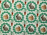 Minerva Crafts Baumwollstoff, kleine Kaninchen, Meterware