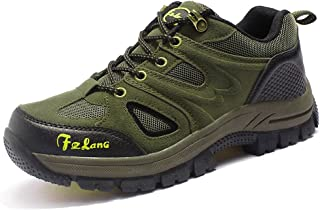 TERIAU Hiking Boots for Mens Suede Leather Outdoor Sneakers Waterproof Backpacking Shoes