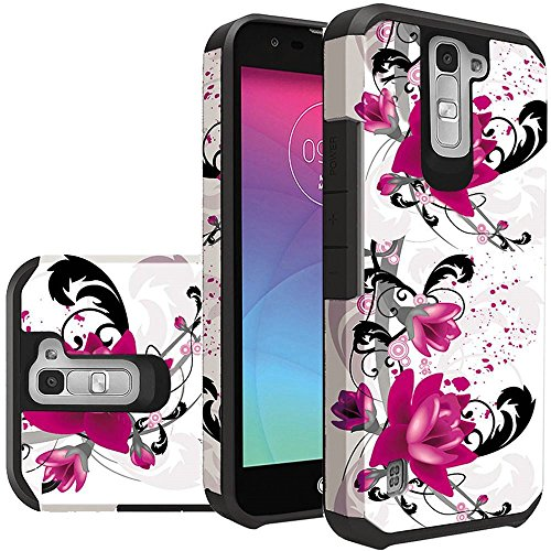 Phone Case Compatible For LG K7 , LG Phoenix 2 Phone , LG Treasure LTE L52VL , LG Tribute 5 Hard & Soft Sturdy Durable Hybrid Dual Layer Protective Cover