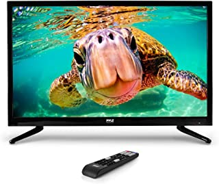 Premium 32 Inch LED TV - 32inch LED Backlight Flat Screen Television - Hi Res 32in 1080p Ultra HD TV w/ HDMI, RCA, VGA - Works w/ Mac, PC - Remote Control, VESA Wall Mount Compatible - Pyle PTVLED32
