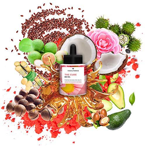 The Cure Oil, Serum pelo seco y dañado con 11 aceites para el pelo como la Astaxantina, Aceite de Coco para el cabello o Aceite de Argan | Antiencrespamiento cabello | protector termico cabello