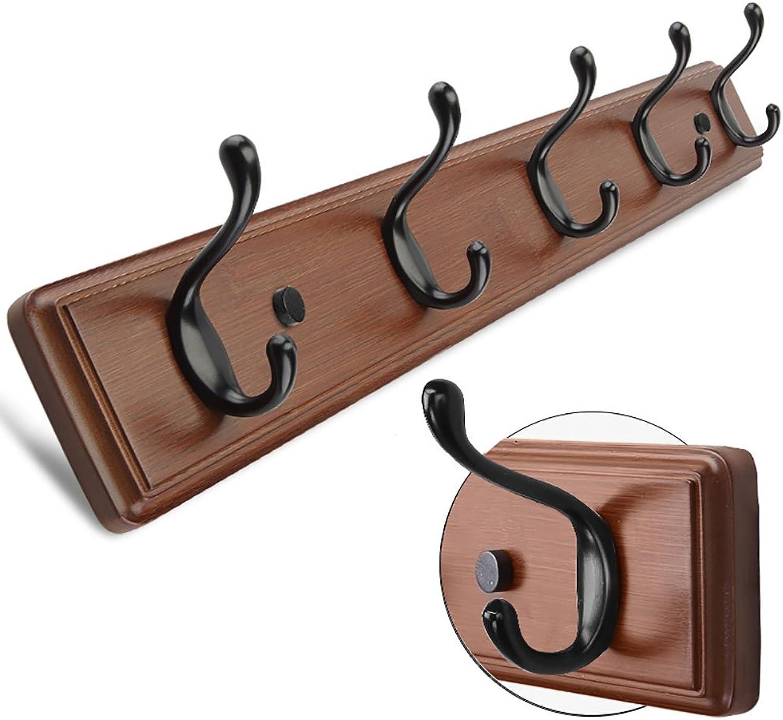 LFF- Creative Hanger Bedroom Wall-Mounted Coat Hook Living Room Wall-Mounted Coat Rack Hangers Behind The Door Coat Hook (color   Retro, Size   A)