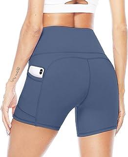 JOYSPELS Kurze Sporthose Damen Leggins Kurz Radlerhose, Blickdicht & Taschen & High Waist Leggings für Sommer Sport Traini...