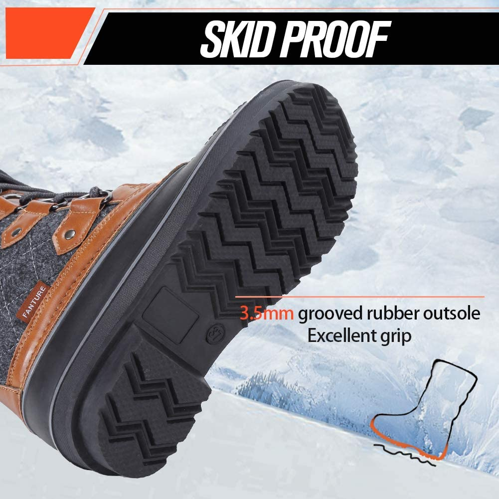 FANTURE Womens Winter Snow Boots Waterproof