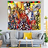 One Piece Anime Tapestry Wall Hanging for Bedroom Living Room Dorm Decor Birthday Gifts 52x60in