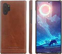 Pierre Cardin Samsung Galaxy Note 10 Plus/10+ Case, Premium Genuine Cowhide Leather with New Slim Design Hard Back Thin Protection Cover for Galaxy Note 10 Plus/10+(6.8
