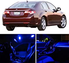 SCITOO 12Pcs Blue Package Kit Accessories Replacement Fits for Acura TSX 2004-2008 LED Bulb LED Interior Lights