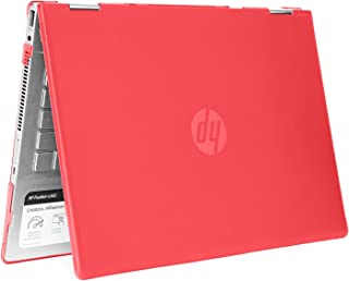 """mCover Hard Shell Case for 14"""" HP Pavilion X360 14-CDxxxx / 14-DDxxxx Series Convertible 2-in-1 laptops (Red)"""