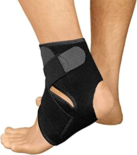 Ankle Support by JH-Wellness - Neoprene Breathable Brace for Sprained Ankle Shin Splints Compression Sleeve for Plantar Fasciitis Swollen Ankle Recovery Sleeve Foot Pain Relief and Support