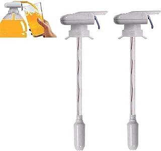 wgkgh 2pcs pailles électriques, pailles d'aspiration d'eau, pailles automatiques pressées à la Main, distributeurs de Bois...