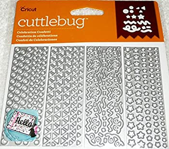 Cricut Cuttlebug Celebration Confetti 4 assorted Cut & Emboss Dies