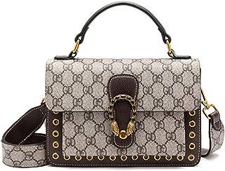 Women Genuine Leather Crossbody Bag Handbag Purse Tote Shoulder Bag Coffee