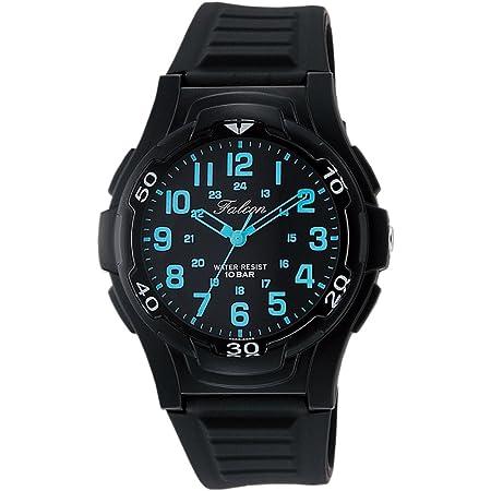[シチズン Q&Q] 腕時計 アナログ 防水 ウレタンベルト VP84-852 メンズ ブラック ブルー