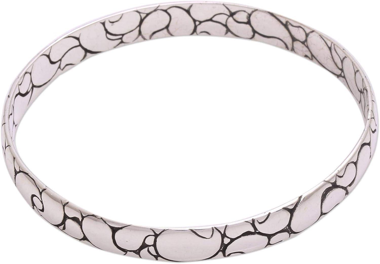 NOVICA .925 Sterling Silver Bangle Bracelet, 7.75