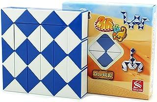 MZStech Magia Serpiente Twist Puzzle Twisty Toy Colección 36 Cuñas Magic Ruler (Azul)
