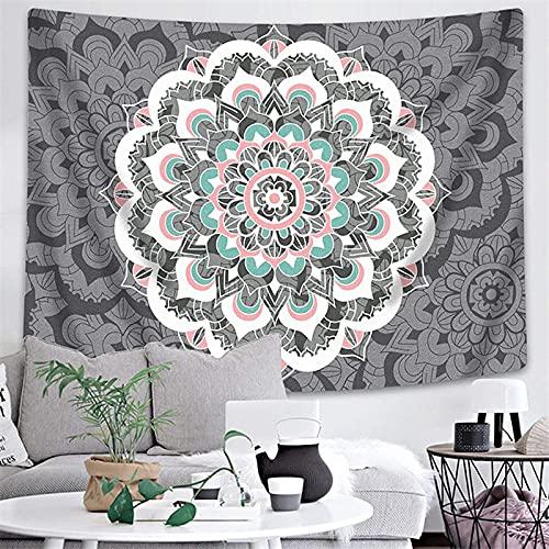 Tapiz de mandala indio para colgar en la pared, decoración de la habitación, manta, cojín de dormir bohemio, tapiz de fondo, tela A12 180x230cm