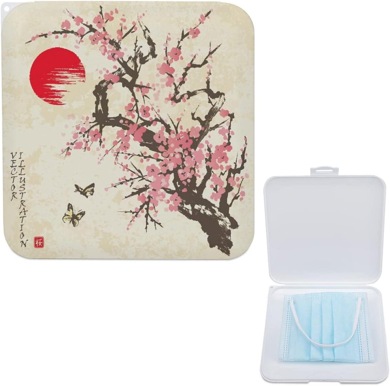 HASENCIV Mask Storage Elegant Case Manufacturer direct delivery Spring But Blossom Sakura Cherry with