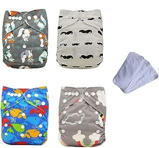 Ohbabyka Baby Reusable Waterproof Bamboo Cloth Diapers Nappies