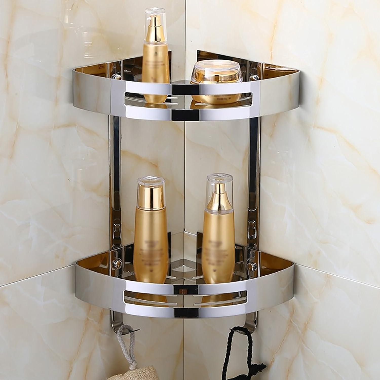 Bathroom Shelves Bathroom Rack Stainless Steel Wall-Mounted Bathroom Angle, Size 30cm (Style   1)