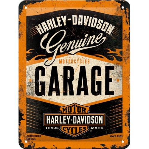 Harley-Davidson Nostalgic Art Garage Plaque de 15 x 20 cm