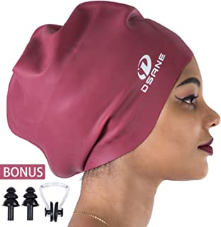 Dsane Extra Large Swimming/Shower Cap for Women and Men,Special Design Swim Cap for Very..