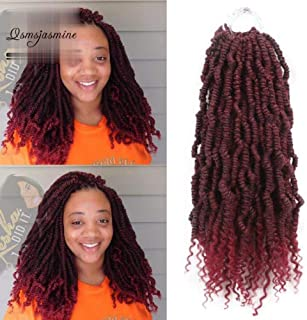 Spring Twist Crochet Braids Bomb Twist Crochet Hair Ombre Braiding Hair Synthetic Extension 3pcs 18inch T1B/Bug