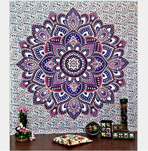 DADA Tapiz Indio para Colgar en la Pared, diseño Floral Bohemio, decoración Hippie, Tapiz de Tela para la Pared