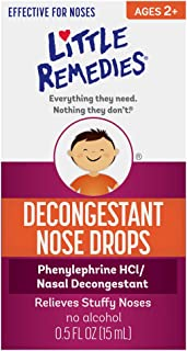 Little Remedies Decongestant Nose Drops | Ages 2-6 | 0.5 Fl. Oz (Pack of 4)