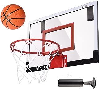 AW Mini Basketball Hoop 18x12' Over-The-Door/Wall Indoor w/Pump 5.5