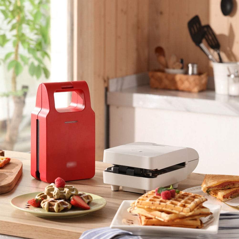 Bakplaat 600W Sandwich Machine Ontbijt Machine Artifact Huis Brood Machine Light Voedsel Wafel Multi-Function Toss Driver,White White