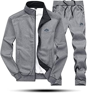 MAGNIVIT Men's Tracksuit Set Full Zip Long Sleeve Jogging Running Sweatsuits
