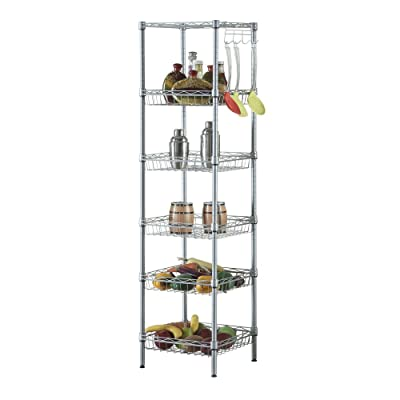 Lovinland 6 Layer Shelving Unit Carton Steel St...