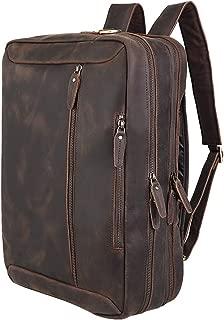 brown leather school bag