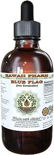 Blue Flag Alcohol-FREE Liquid Extract, Organic Blue Flag (Iris versicolor) Dried Root Glycerite Hawaii Pharm Natural Herbal Supplement 2 oz