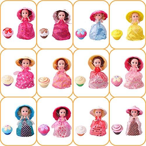 1pcs 15.5cm Tasse Kuchen Puppe Geschmack Mini verformbare Gebäck Prinzessin Deformed Dolls Kleid Überraschung süße Mädchen Geburtstag Weihnachten magisches Geschenk verwandeln Cupcake Spielzeug