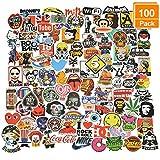 Willingood Aufkleber 100 Stück Wasserdicht Vinyl Stickers Graffiti Style Decals für Auto...