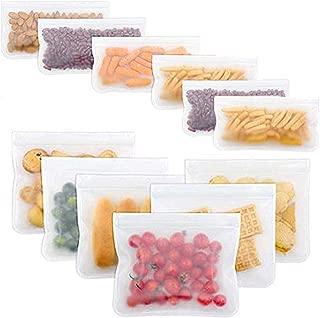 Bolsas Reutilizables para Almacenamiento de Alimentos Extra Grueso Sello de Cierre herm/ético Doble Almacenaje Almuerzo Bolsas de s/ándwich Congelador Viaje