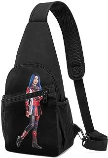Hdadwy Descendants 3 Evie Hombres Mujeres Crossbody Sling Mochila Sling Bag Travel Senderismo Bolsa de pecho Mochila negra