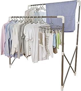 アイリスオーヤマ 洗濯物干し 布団干し 室内物干し 物干しスタンド 約4人用 多機能物干し 簡単組み立て 伸縮タイプ 幅97~150cm SMH-150R