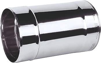 plateado Acero inoxidable chimenea maletero hembra conector Multi combustible Uni/ón de tubos estufa adaptador acoplador kj33 KJ33//110