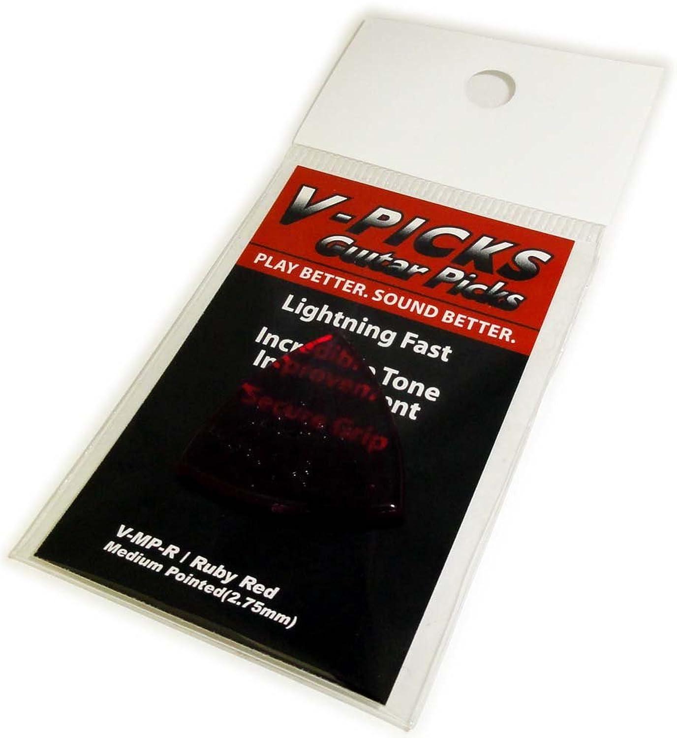 ペパーミント本気含むV-PICKS Ruby-Red Series Medium/Pointed 2.75mm V-MP-R