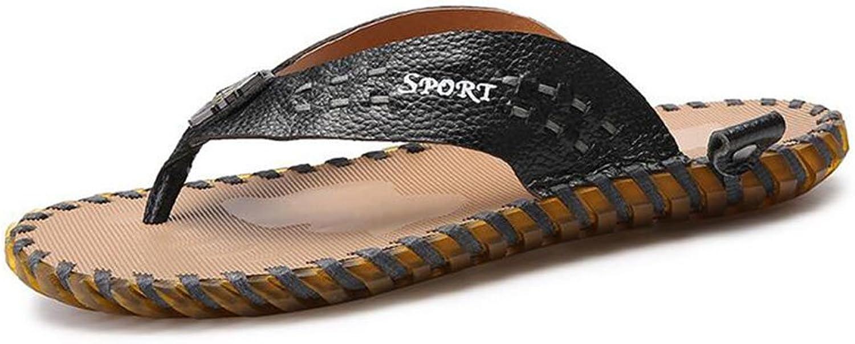Men Flip-Flops Summer Leisure Beach Slippers & Flip-Flops Men's Comfort Outdoor Sandals (color   Black, Size   39)