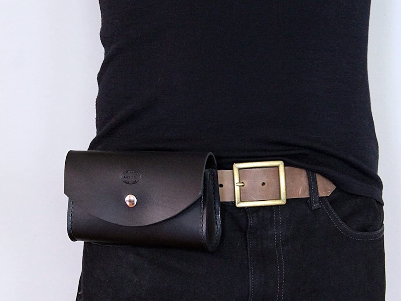 Men's Genuine Leather Belt Bag
