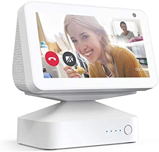 $39 » GGMM ES5 Battery Base Stand for Echo Show 5, 10000mAh Battery Capacity Portable Mount, Smart Speaker Accessories, White (S...