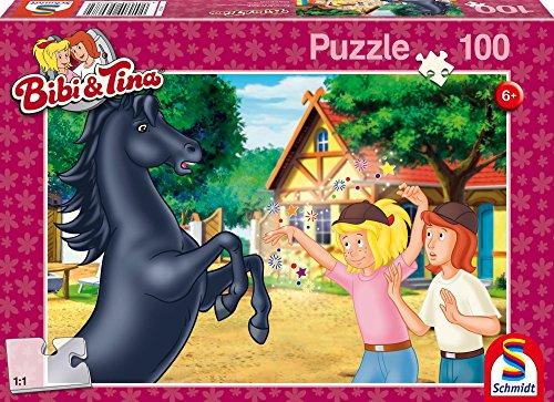 Schmidt- Puzzle Bibi et Tina-L'Étalon Sauvage 100 Pièces, 56078