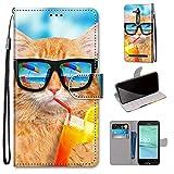 DACAS pour ASUS ZenFone Go ZB500KL PU Cuir Clapet Housse, Case Cover Wallet avec Stand Support...