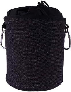 Trendfinding Sac à pinces à linge portable en denim et coton avec deux mousquetons robustes, cordon de serrage et butoir e...